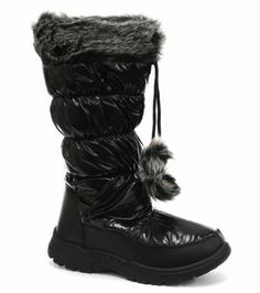Red Rock Black Pom Pom Womens Winter Snow Boots, Size 5 Red Rock,http://www.amazon.com/dp/B00A7CRQPI/ref=cm_sw_r_pi_dp_dmQEsb0QF2KM0FRH   Only 30$ dont love that they are so shiny