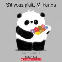S'il vous plaît, M. Panda de Steve Antony FR E ANT M. Panda a une douzaine de beignes qu'il offre gentiment à ses amis. L'un après l'autre, les animaux répondent en indiquant leurs exigences, mais ils n'obtiennent rien! En revanche, lorsque le lémurien dit «S'IL VOUS PLAÎT», il a une belle surprise. Une leçon de politesse pleine d'esprit. Après tout, lorsqu'on est poli, on peut tout recevoir.