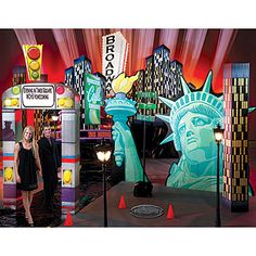Our Times Square Theme Kit will transform any venue into the Big Apple. Each Times Square decorating kit includes eight decorating props.