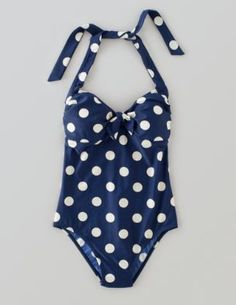 My Boden Spring Wishlist :: Retro Swimsuit, French Polka Dot :: DYING FOR THIS!!!