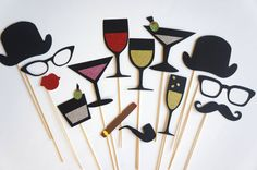 Photo Booth Props  The Celebration Collection  by TheManicMoose, $40.00