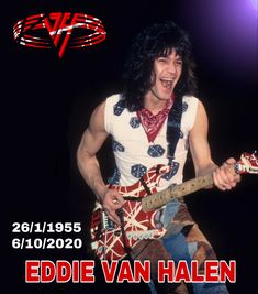 One of the greatest guitar masters of all time. Rest In Peace Eddie. David Lee Roth, Eddie Van Halen, Rest In Peace, Hard Rock, Rock Bands, Masters, All About Time, Guitar, Singer