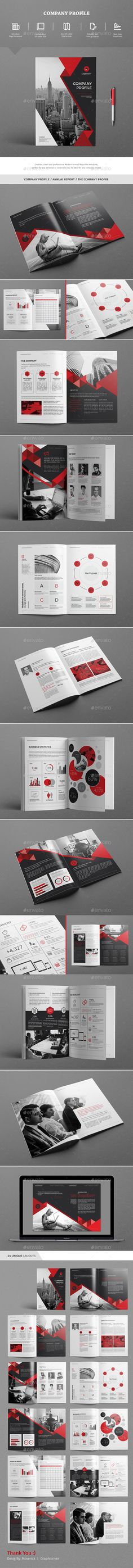 The Company Profile Brochure Template InDesign INDD