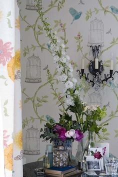 Bird cage wallpaper