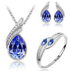 MAFMO Bridal Water Drop Jewelry Set Crystal Pendant Neckl... https://www.amazon.com/dp/B01DSVKWRI/ref=cm_sw_r_pi_dp_x_x3nEybYK50GH0