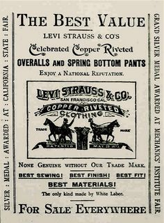 The two horse brand… Vintage Labels, Vintage Ads, Vintage Posters, Camoflauge Wallpaper, Bicicletas Raleigh, Sea Captain, Levis Shirt, Vintage Typography, Levi Strauss & Co