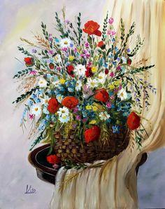 Mezei virágok. olaj,farost, 50x40