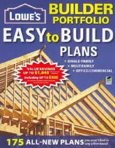 Lowe's Builder Portfolio: Easy-to-build Plans (Paperback) | Overstock.com Shopping - The Best Deals on House Plans