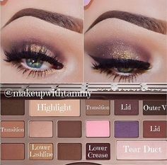 Chocolate bar palette look