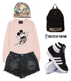 """""""CREATED BY FORTUNE Contest"""" by tania-alves ❤ liked on Polyvore featuring Markus Lupfer, adidas and Moschino"""