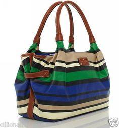 $150.00 Kate Spade Shoreline Stripe Nylon Handbag WKRU1712 Retail $298 + FREE GIFT
