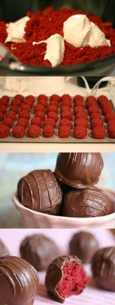 How To Cake Balls Red Velvet