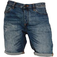 """Urban Classics"" - ""Fitted Denim Shorts""  Vaqueros cortos con una longitud lateral de aprox. 44 cm."