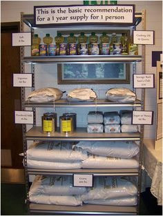 How To Build Your One Year Supply Of Food. homesteading, preparedness, food storage, food supply, food, survival,