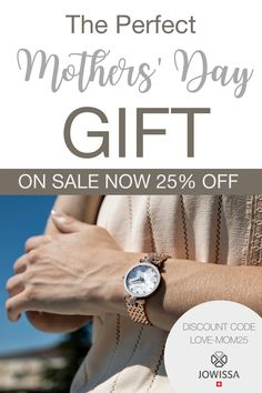 Looking for a beautiful mothers day gift? Try a Swiss Watch from Jowissa. These handcrafted watches come in bold, elegant colors and unique designs that are sure to please. #mothersday #swisswatch #ladieswatch Great Gifts For Men, Gifts For Mom, Swiss Made Watches, Swiss Watch, Perfect Mother's Day Gift, Ladies Watches, Spring Style, Minimalist Design, Things To Buy