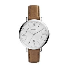 Fossil Ladies brown 'jacqueline' leather strap watch- at Debenhams.com