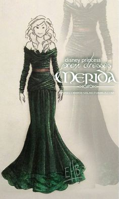 Disney Princess Prom Dresses: Merida by Lizzabeth.deviantart.com on @deviantART