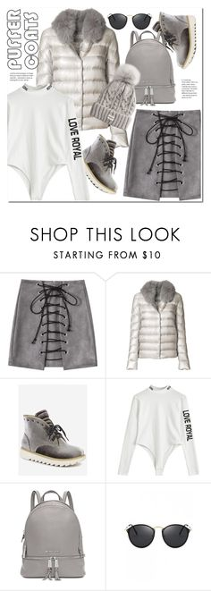 """Stay Warm: Puffer Coats"" by duma-duma ❤ liked on Polyvore featuring Herno, Michael Kors and puffercoats"