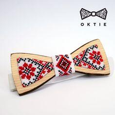 OKTIE Wood Bowtie Handmade Wooden Bow Tie Handcrafted - Ukraine classic ornament #OKTIE #BowTie