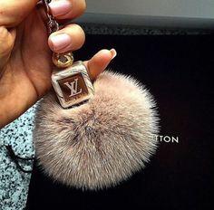 LV Pom Pom keychain.. I want this!! :) @cmariee74