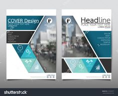 Blue Triangle Technology Annual Report Brochure Flyer Design Template Vector, Leaflet Cover Presentation Abstract Flat Background, Layout In A4 Size - 412592077 : Shutterstock