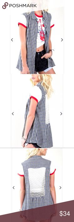 White Crow Gingham Button Front Tank Urban Cool! This new arrival from White Crow is a wardrobe essential! The Urban Cool in Rainy Day is a gingham print button front tank in a lightweight material. We love this tank by itself or paired over graphic tees for instant cool! (50% Rayon 50% Linen) •Button Front •Collar •Gingham Print •Runs Small Size Up For Best Fit Anthropologie Tops Tank Tops