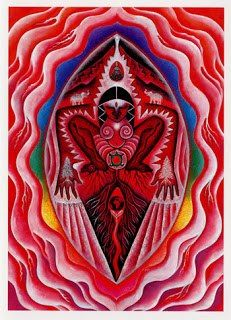 Root Chakra ~ I Am ruby roots reach way down, deep in Mother Earth safe inside Great Gaia, She who gave us birth receiving Her abundant strength, in reverence we stand with our feet firmly planted upon Her sacred land - Mara Berendt Friedman Arte Chakra, Chakra Art, Chakra Healing, Muladhara Chakra, Sacred Feminine, Divine Feminine, Arte Latina, Moon Time, Birth Art