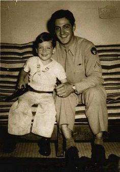 Little Al Pacino with his dad