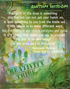 I love drumming.