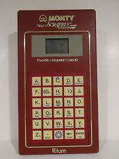 VINTAGE 1982 MONTY PLAYS SCRABBLE ELECTRONIC CROSSWORD table top hand held GAME