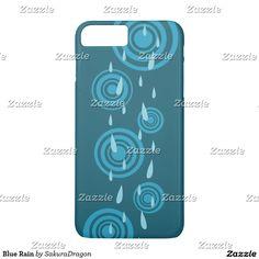 Blue Rain iPhone 7 Plus Case #rain #blue #water #storm #shower