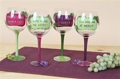 Wine Glass and Charm Set 4 Assorted #hiddentreasuresdecorandmore