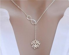 Infinity Lotus Flower Necklace