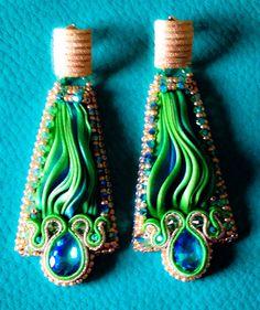 Shibori earrings Shibori, Swarovski, Earrings, Home Decor, Ear Rings, Stud Earrings, Decoration Home, Room Decor, Ear Piercings