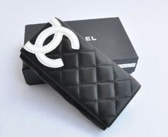 b91402e0ab1b Chanel Bi-Fold Cambon Wallets 164 Black with White CC Logo - Dobestbuy