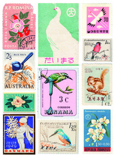 Studio Sjoesjoe: Vintage stamps
