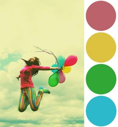 It's Friday! Color Palette Inspiration: Summer Balloons