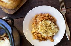 Chicken Parmesan Casserole with dish