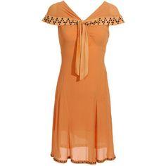 E2 Vintage Peach 1930s Vintage Lingerie Dress
