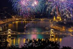 Fireworks over Budapest on the 20th of August Celebration