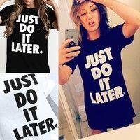 Wish | cute 1 piece Women letters print T shirt European basic short sleeve O neck Shirts casual tops