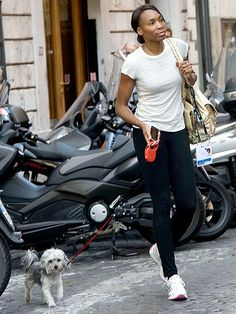 Tennis ace Venus Williams takes in the sights and sounds of Rome with Harold the Havanese for company. Lisa Nicole Carson, Vincent Piazza, Vanessa Simmons, Star Jones, Usher Raymond, Lena Horne, Jordin Sparks, Eartha Kitt, Havanese Dogs