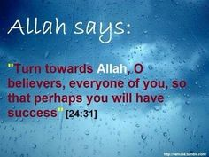 Turn to Allah so that you will have success. Beautiful Verses, Beautiful Islamic Quotes, Motivational Quotes, Inspirational Quotes, Islam Facts, Allah Islam, One Liner, Holy Quran, Religious Quotes