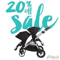 Save BIG on select Baby Jogger strollers – like this City Select double in Onyx – was $699, NOW $559.20! If you've been waiting to buy a stroller, now's the perfect time to get one!   While supplies last – sale ends 7/21/2016! http://www.pishposhbaby.com/baby-jogger-sale.html