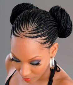 Cornrow Hairstyles: Different Cornrow Braid Styles (Trending in April Ghana Braids Hairstyles, Cool Braid Hairstyles, Braided Hairstyles For Black Women, Braids For Black Hair, African Hairstyles, Black Hairstyles, Latest Hairstyles, Hairstyles Haircuts, Hairstyle Pictures