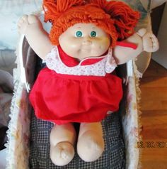 Cabbage Patch Dolls (1978). The original dolls were all cloth & sold at craft shows & later at Babyland General Hospital. They went on to become 1 of the most popular toys of the 1980s. I had this EXACT one! Sadie Mae Lord!!