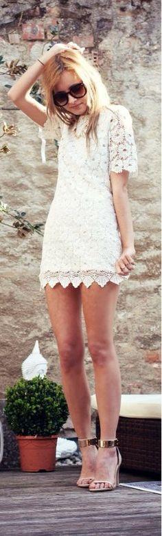 Summer Lace Mini Dress n Sandals!
