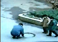 """Share this """"Explosive Manhole"""" animated gif image with everyone. Gif4Share is best source of Funny GIFs, Cats GIFs, Dog GIFs to Share on social networks and chat."""
