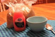 Put it in a jelly jar, make a pretty label, and tada... Christmas present >> Pink Sugar Hand Scrub