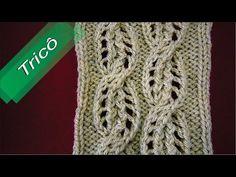 DIY - Tricô - Ponto Fantasia 06 (Passo a Passo) - YouTube